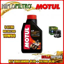 KIT TAGLIANDO 5LT OLIO MOTUL 7100 10W60 DUCATI 1200 Monster R 1200CC 2016- + FILTRO OLIO HF153