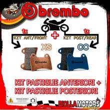 BRPADS-39695 KIT PASTIGLIE FRENO BREMBO KYMCO SUPER DINK 2010- 125CC [XS+CC] ANT + POST