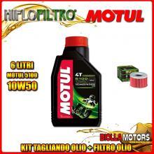 KIT TAGLIANDO 6LT OLIO MOTUL 5100 10W50 HONDA TRX500 FGA Fourtrax Foreman Rubicon GPScape 500CC 2004-2008 + FILTRO OLIO HF111