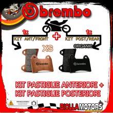 BRPADS-49008 KIT PASTIGLIE FRENO BREMBO SYM GT 2007- 500CC [XS+ORGANIC] ANT + POST
