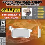 FD265G1396 PASTIGLIE FRENO GALFER SINTERIZZATE ANTERIORI METRAKIT SRM 110 4T 07-