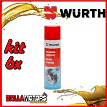 KIT 6x 500ML PULITORE PER FRENI SPRAY WURTH - 6x 0890117