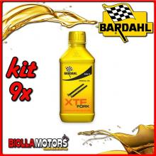 KIT 9X 500ML OLIO BARDAHL XTF FORK SPECIAL OIL 10W PER FORCELLA 1/2 LT - 9x 442032