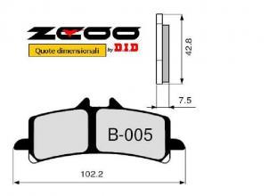 45B00501 PASTIGLIE FRENO ZCOO (B005 EX C) APRILIA RSV4 1000 APRC R - Factory - SE - ABS 2011-2014 (ANTERIORE)