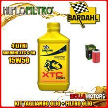 KIT TAGLIANDO 4LT OLIO BARDAHL XTC 15W50 KTM 640 Duke 1st Oil Filter 640CC 1999-2006 + FILTRO OLIO HF155