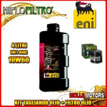 KIT TAGLIANDO 4LT OLIO ENI I-RIDE 10W60 TOP SYNTHETIC KAWASAKI EN500 Vulcan 500 Ltd 500CC 2003-2006 + FILTRO OLIO HF204