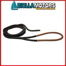 3101920 DOCK LINE BLACK D24 L20 EYE75 BLACK Custom Dock Line Nera con Gassa