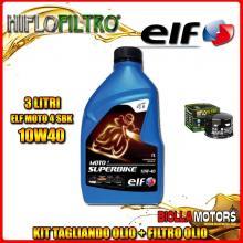 KIT TAGLIANDO 3LT OLIO ELF MOTO 4 SBK 10W40 GILERA 800 GP / GP Centenario 800CC 2008-2014 + FILTRO OLIO HF565