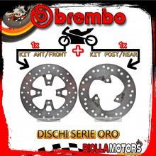 BRDISC-1685 KIT DISCHI FRENO BREMBO MBK SKYLINER 2002-2010 125CC [ANTERIORE+POSTERIORE] [FISSO/FISSO]
