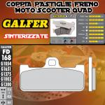 FD168G1375 PASTIGLIE FRENO GALFER SINTERIZZATE ANTERIORI HONDA VTR 1000 SP-1 KIT 00-01