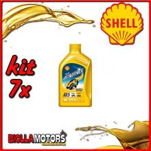 KIT 7X LITRO OLIO SHELL ADVANCE 4T AX5 15W50 1LT - 7x 550027092