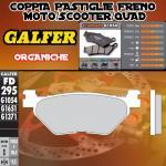 FD295G1054 PASTIGLIE FRENO GALFER ORGANICHE POSTERIORI HYOSUNG GV 650 AQUILIA 04-