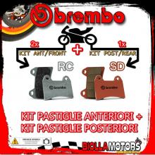 BRPADS-22016 KIT PASTIGLIE FRENO BREMBO KTM LC8 990 SUPERMOTO R 2009- 990CC [RC+SD] ANT + POST