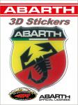21533 ADESIVO 3D STICKERS SCUDETTO ABARTH 80MM