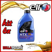 KIT 6X LITRO OLIO ELF HTX 976 +/plus 2T MISCELA - 6x 187005