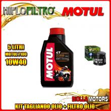 KIT TAGLIANDO 5LT OLIO MOTUL 7100 10W40 DUCATI 1200 Monster R 1200CC 2016- + FILTRO OLIO HF153