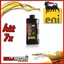 KIT 7X LITRO OLIO ENI I-RIDE RACING 5W40 TOP SYNTHETIC - 7x E528991