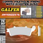 FD207G1380 PASTIGLIE FRENO GALFER SINTERIZZATE POSTERIORI HONDA ST 1100 PAN EUROPEAN CBS/ABS/TCS 96-01