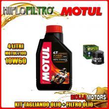 KIT TAGLIANDO 4LT OLIO MOTUL 7100 10W60 APRILIA RSV 1000 RSV4 R 1000CC 2009-2011 + FILTRO OLIO HF138
