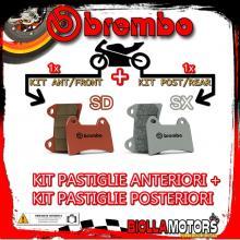 BRPADS-14801 KIT PASTIGLIE FRENO BREMBO CCM RS 2001- 600CC [SD+SX] ANT + POST