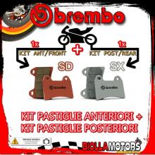 BRPADS-14886 KIT PASTIGLIE FRENO BREMBO HM CRE SIX COMPETITION 2009- 50CC [SD+SX] ANT + POST