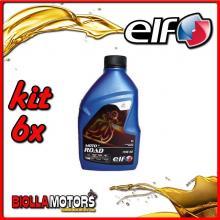 KIT 6X LITRO OLIO ELF MOTO 4 ROAD 15W50 SINTETICO - 6x 201731