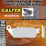 FD266G1054 PASTIGLIE FRENO GALFER ORGANICHE ANTERIORI HONDA VT 1100 C2 SHADOW ACE 95-96