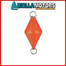 3822250 GAVITELLO L1300 ORANGE INOX Boa Biconica con Asta Passante in Acciaio Inox