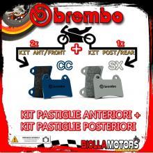BRPADS-9998 KIT PASTIGLIE FRENO BREMBO BMW R 1200 R DARK WHITE 2014- 1200CC [CC+SX] ANT + POST