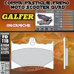 FD118G1054 PASTIGLIE FRENO GALFER ORGANICHE ANTERIORI GILERA RC 600 R, COBRA 94-