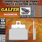 FD234G1054 PASTIGLIE FRENO GALFER ORGANICHE POSTERIORI APRILIA LEONARDO 150 4T 99-