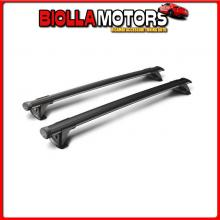 Y8050230 YAKIMA THRU BLACK, COPPIA BARRE PORTATUTTO IN ALLUMINIO - 149 CM CITROEN BERLINGO (VAN) - RAILING (04/08>05/18)
