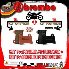 BRPADS-58944 KIT PASTIGLIE FRENO BREMBO SWM RS R 2016- 125CC [SD+GENUINE] ANT + POST
