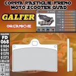 FD068G1054 PASTIGLIE FRENO GALFER ORGANICHE ANTERIORI CAGIVA MITO 125 SP 525 08-
