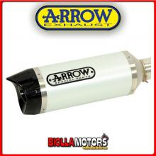 71761AKB TERMINALE ARROW STREET THUNDER YAMAHA XJ6 Diversion 2009-2015 WHITE/CARBONIO