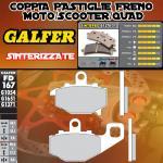 FD167G1371 PASTIGLIE FRENO GALFER SINTERIZZATE POSTERIORI KAWASAKI ER-6 F / NINJA 650 R (USA) RIGHT / DER 05-