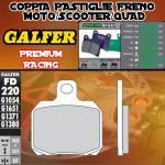 FD220G1651 PASTIGLIE FRENO GALFER PREMIUM POSTERIORI PEUGEOT SATELIS 500 ABS PBS 07-