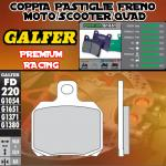 FD220G1651 PASTIGLIE FRENO GALFER PREMIUM POSTERIORI APRILIA RSV TUONO V4 R 11-