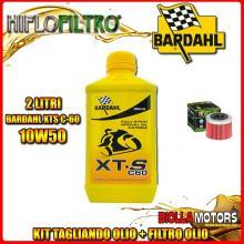 KIT TAGLIANDO 2LT OLIO BARDAHL XTS 10W50 APRILIA 450 MXV 450CC 2008-2015 + FILTRO OLIO HF575