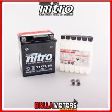 YTX7L-BS-N BATTERIA NITRO YTX7L-BS SIGILLATA CON ACIDO YTX7LBS MOTO SCOOTER QUAD CROSS