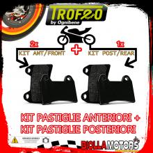 OEPADS-2370 KIT PASTIGLIE FRENO OE PIAGGIO X10 EXECUTIVE left/rear 350 2013- [ANTERIORE+POSTERIORE] [ORGANICA]