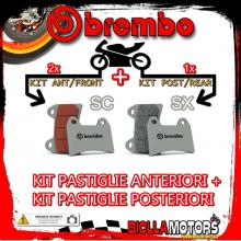 BRPADS-14458 KIT PASTIGLIE FRENO BREMBO DUCATI MONSTER 2017- 797CC [SC+SX] ANT + POST