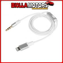 38848 LAMPA CAVO APPLE 8 PIN - AUX, CON BLUETOOTH