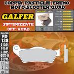 FD138G1396 PASTIGLIE FRENO GALFER SINTERIZZATE ANTERIORI TM 400 4T E/CROSS 00-02