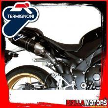 Y092094CO SCARICO COMPLETO TERMIGNONI YAMAHA R1 2009-2011 OVAL INOX/CARBONIO