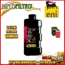 KIT TAGLIANDO 3LT OLIO ENI I-RIDE 10W60 TOP SYNTHETIC KTM 400 EGS 1st Oil Filter 400CC - + FILTRO OLIO HF155