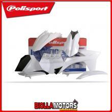 P90406 KIT PLASTICHE CARENE KTM 125 SX 2012-2012 BIANCO POLISPORT