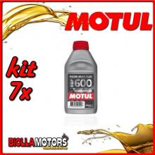 KIT 7X 500ML OLIO MOTUL RACING BRAKE FLUID RBF 600 FACTORY LINE 500 ML - 7x RBF 600 Factory Line