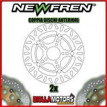 2-DF4117AF COPPIA DISCHI FRENO ANTERIORE NEWFREN KYMCO SUPER DINK 300cc 2009-2011 FLOTTANTE