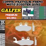 FD277G1651 PASTIGLIE FRENO GALFER PREMIUM ANTERIORI APRILIA SPORT CITY STREET 50 09-